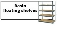 Basin floating shelves