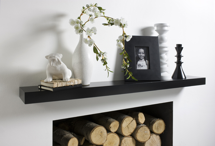 Black floating shelf