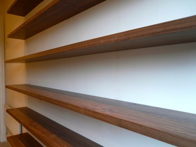 Long floating shelves