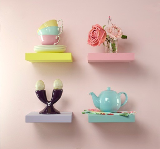Small floating shelves paint to any colour.