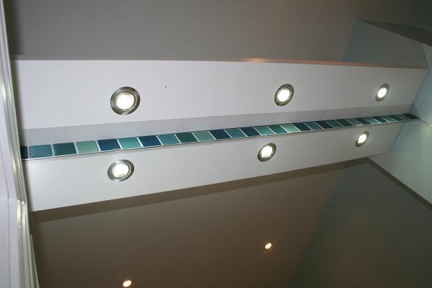 floating shelf lights